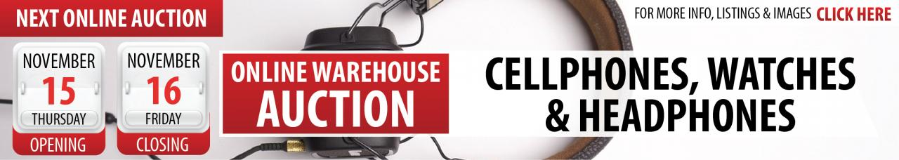 Online Cellphones, Watches & Headphones Auction - BFN
