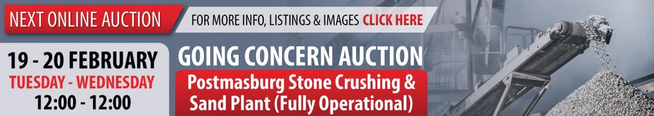 Postmasburg Stone Crushing & Sand Plant Auction