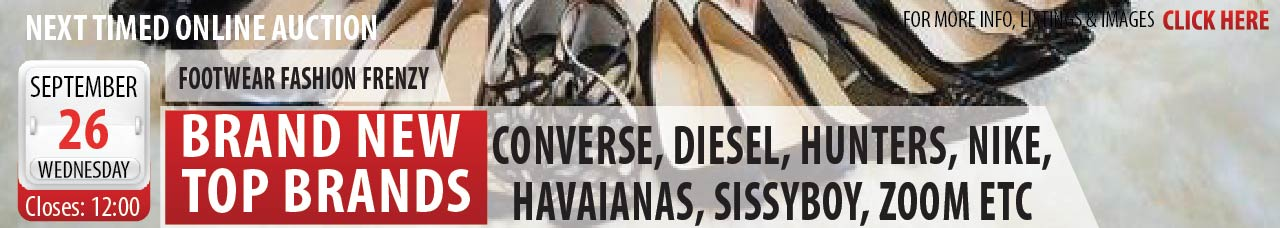 Massive Branded Shoes & Sneakers Online Auction - BFN