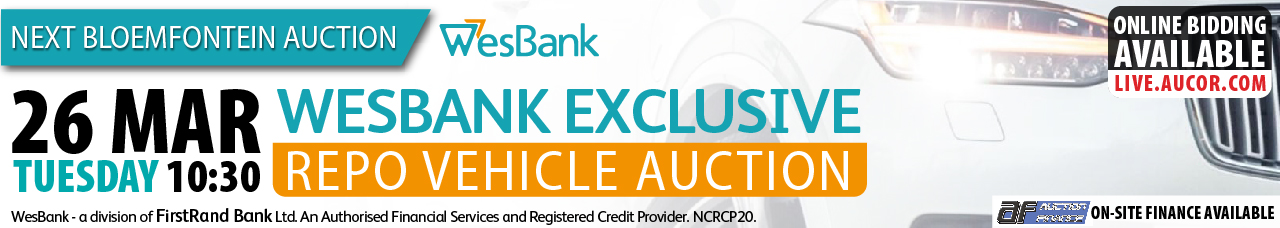 West Bank Exclusive Repo Vehicle Auction - Bloem