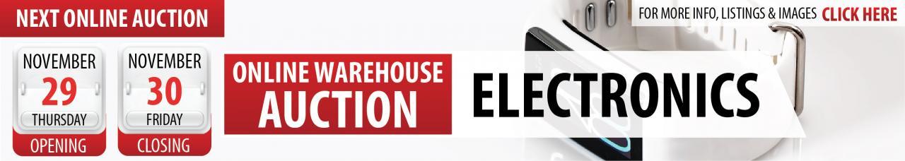 Online Electronics Warehouse Auction
