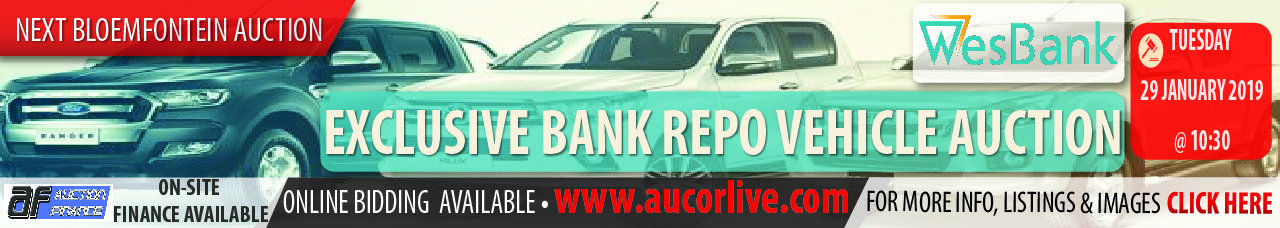 Bloemfontein Exclusie Bank Repo Vehicle Auction