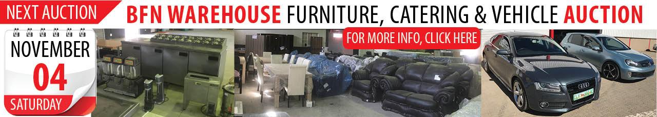 Bloemfontein Warehouse Furniture, Catering & Vehicle Auction