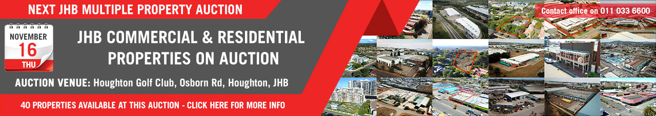 JHB Multi Property Auction - 16 Nov