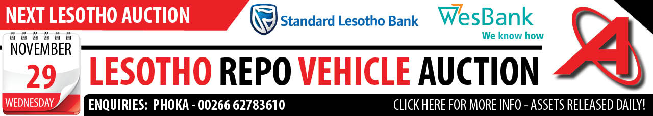 Lesotho Repo Vehicle Auction - 29 Nov