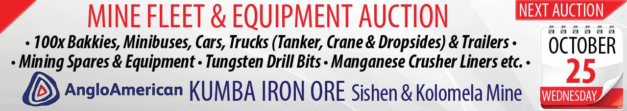 Mine Fleet & Equipment Auction - 25 October