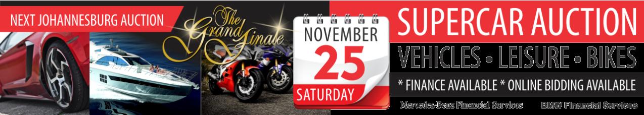 Supercar Finale, Bike & Leisure Auction - 25 Nov
