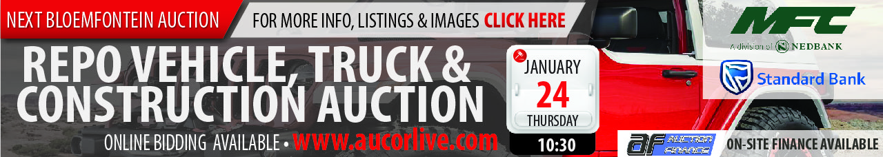 Bloemfontein Repo Vehicle, Truck & Construction Auction