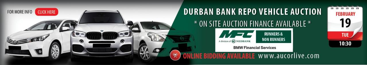 Durban Bank Repo Vehicle Auction