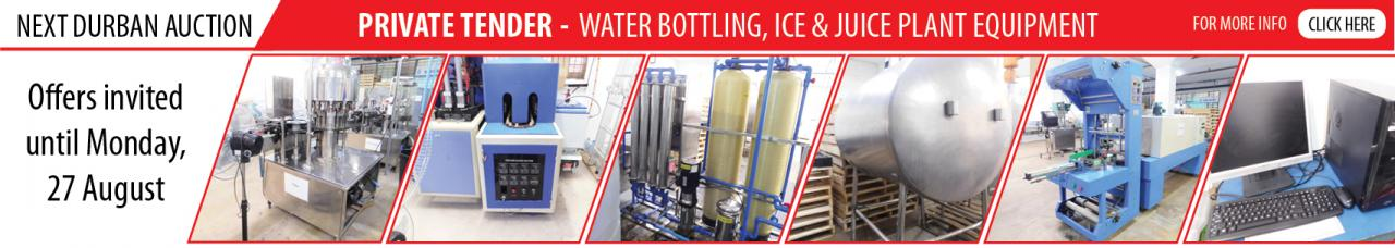 Private Tender - Water Bottling, Ice & Juice Plant Equipment - DBN