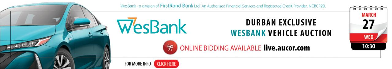 Durban Exclusive Wesbank vehicle Auction