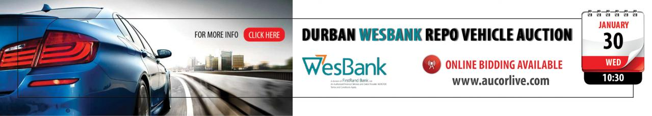 Durban Wesbank Repo Vehicle Auction