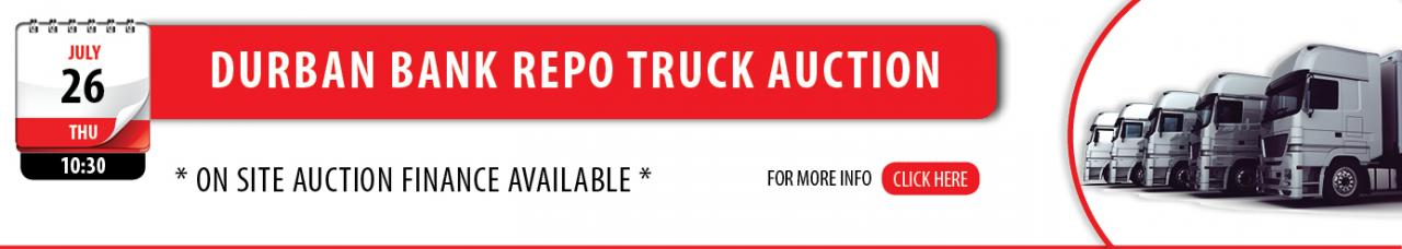 Durban Bank RepoTruck Auction - 26 July
