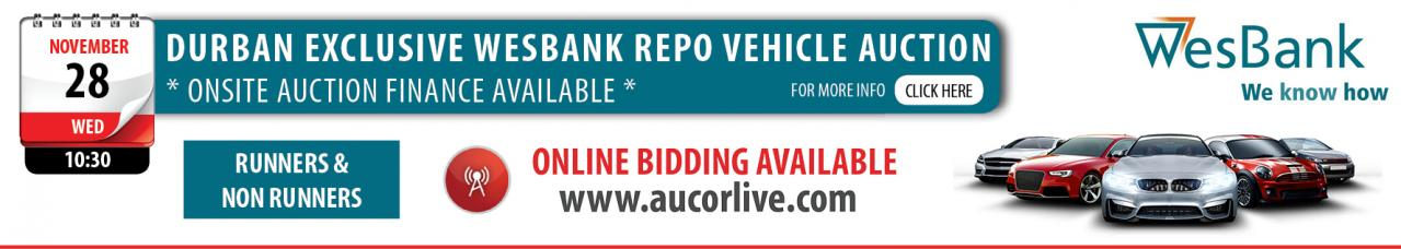Durban Exclusive Wesbank Repo Vehicle Auction