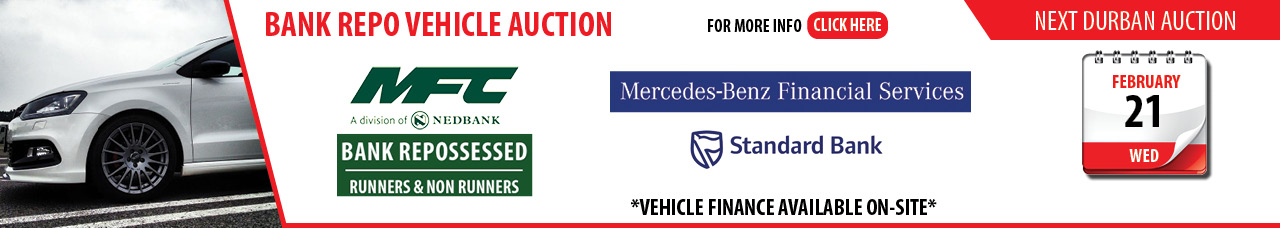 Durban MFC Bank Repo Vehicle Auction - 21 Feb