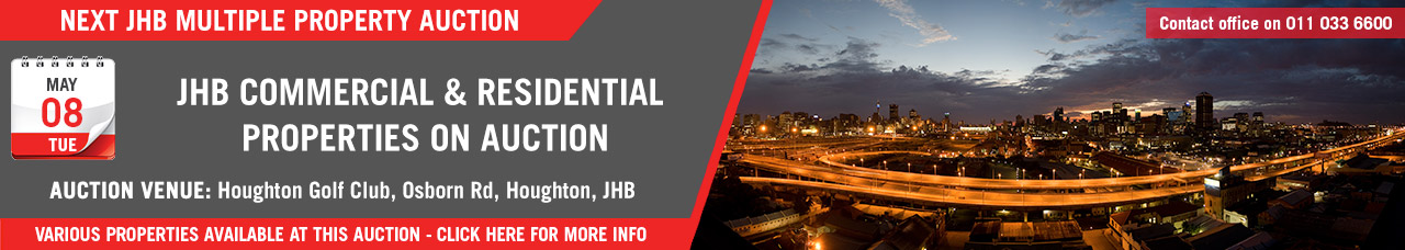 JHB Commercial & Residential Property Auction - 8 May