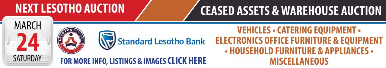 Lesotho Ceased Assets & Warehouse Auction - 24 March