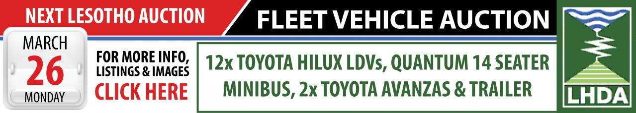 Lesotho Fleet Vehicle Auction - 26 March