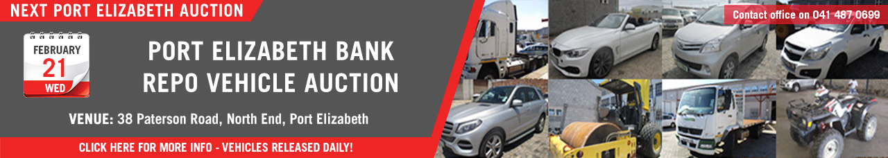 Port Elizabeth Bank Repo Vehicle Auction - 21 Feb