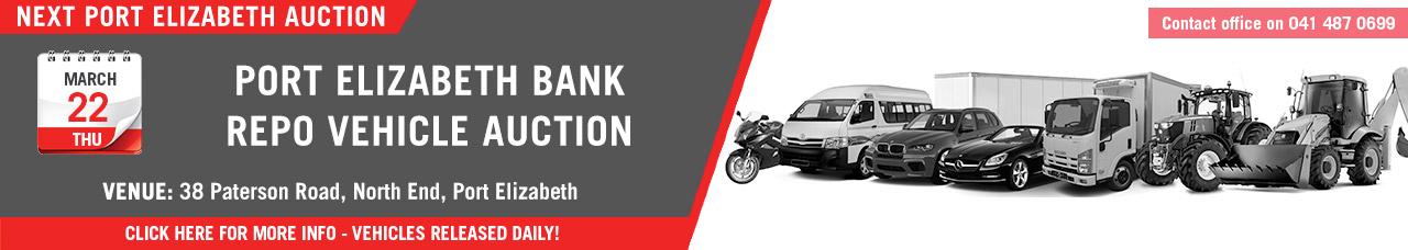 Port Elizabeth Bank Repo Vehicle Auction - 22 March