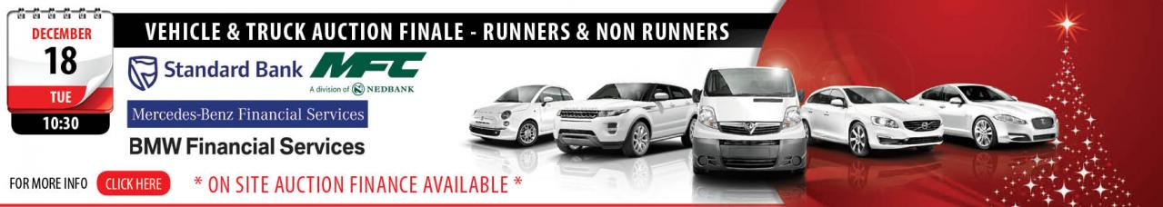 Vehicle & Truck Auction Finale - Runners & Non Runners